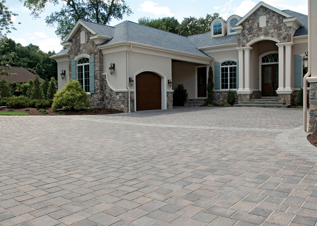 Driveway constructed with Unilock Transition Pavers